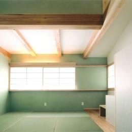 夏涼しく、冬暖かい環境共生住宅 (和室)