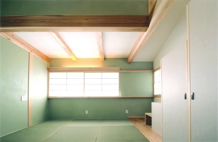 夏涼しく、冬暖かい環境共生住宅の部屋 和室