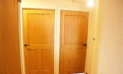 フレンチカントリーなドア|フレンチカントリーの家