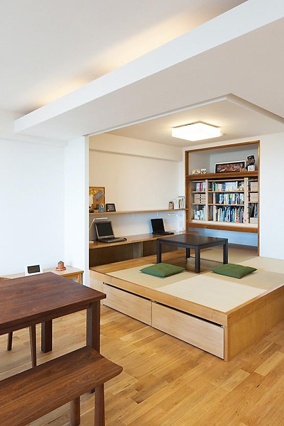 リノベーション・リフォーム会社:トラスト「LDKと一体感のある畳スペース」
