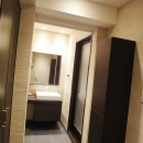 case100・リノベーションで手にいれた、ホテルライクな暮らし。の写真 洗面所