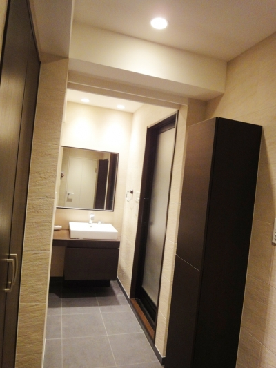 洗面所 (case100・リノベーションで手にいれた、ホテルライクな暮らし。)