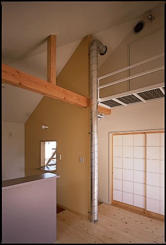 K house-2 Small Pinkの部屋 居間の暖気を床上に