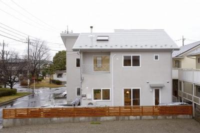 栃木県下野市の新築注文住宅 YM-house (南面外観)