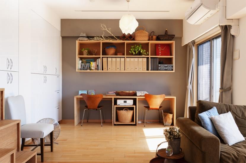 K邸・こだわりの家具と一緒に楽しむ住まい (LDK)