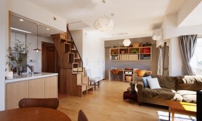 K邸・こだわりの家具と一緒に楽しむ住まい (LDK-2)