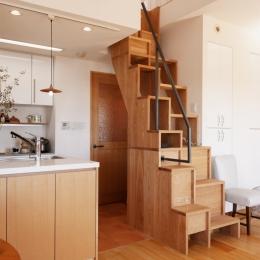 K邸・こだわりの家具と一緒に楽しむ住まい-階段