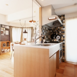 K邸・こだわりの家具と一緒に楽しむ住まい (キッチン)