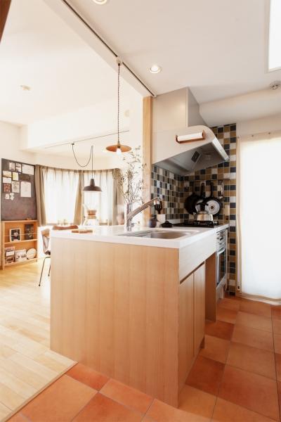 キッチン (K邸・こだわりの家具と一緒に楽しむ住まい)