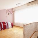 K邸・こだわりの家具と一緒に楽しむ住まいの写真 ロフト部分(寝室兼プレイルーム)