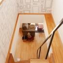 K邸・こだわりの家具と一緒に楽しむ住まいの写真 ロフト階段