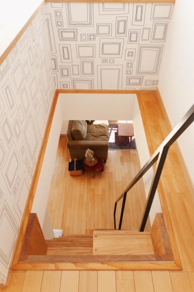 ロフト階段 (K邸・こだわりの家具と一緒に楽しむ住まい)
