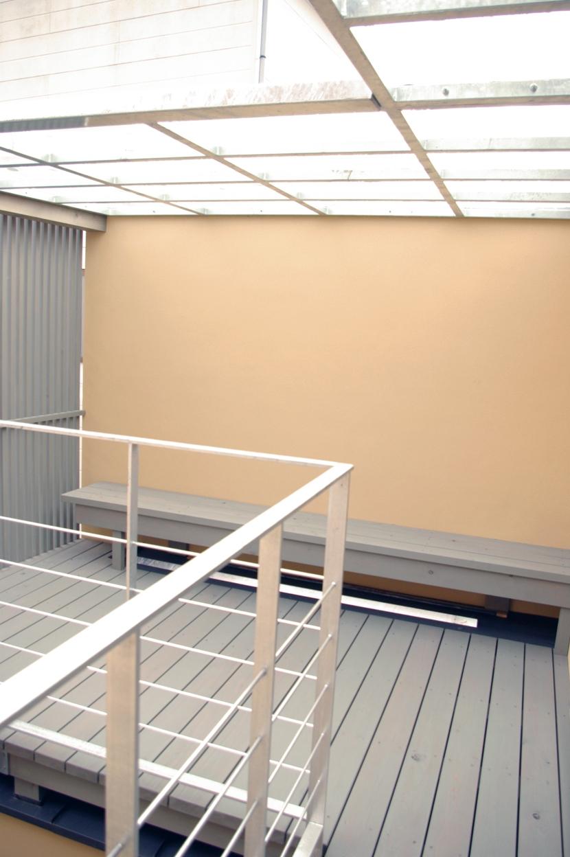 京町家の再生の写真 子ども室から続く物干