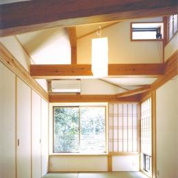 ベンガラ格子のある家 (2階和室)