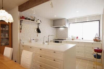 キッチン2 (U邸・南欧の田舎家にあこがれてゆったり暮らす)
