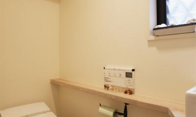 U邸・南欧の田舎家にあこがれてゆったり暮らす (トイレ)