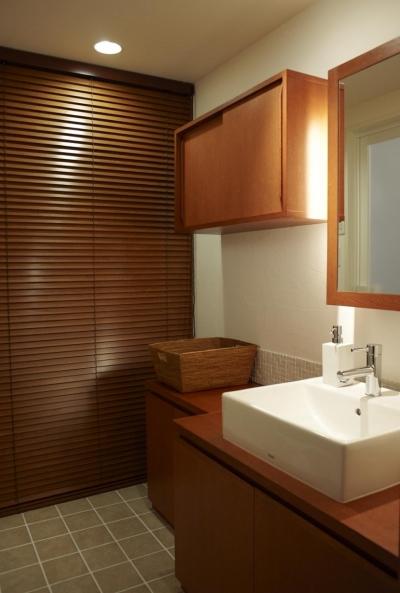 洗面所 (T邸・南の風が吹き抜けるカフェリゾート空間)