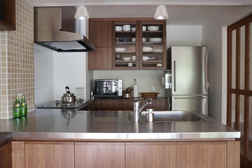 キッチン事例:キッチン(T邸・南の風が吹き抜けるカフェリゾート空間)