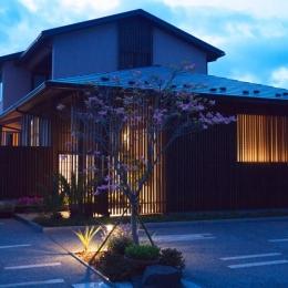 外観デザイン夜景 (野洲の家)