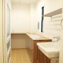 N邸・こだわりのシンプルナチュラル空間の写真 3F・ランドリールーム