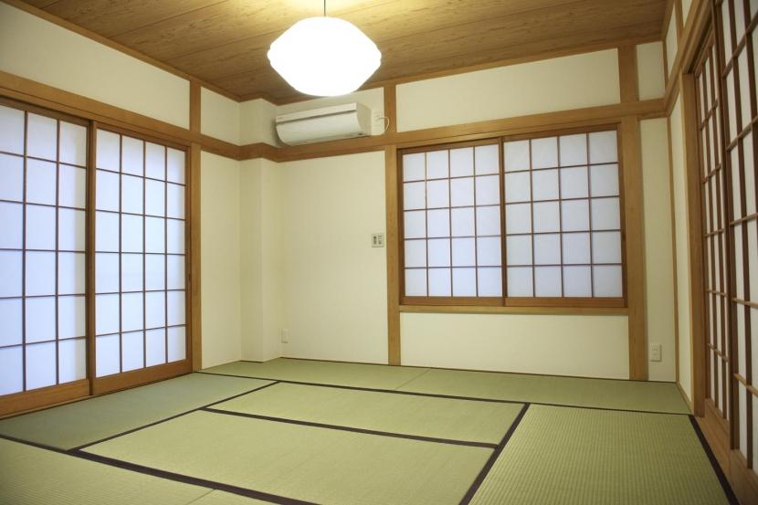N邸・こだわりのシンプルナチュラル空間の写真 1F・和室