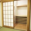 N邸・こだわりのシンプルナチュラル空間の写真 1F・和室収納