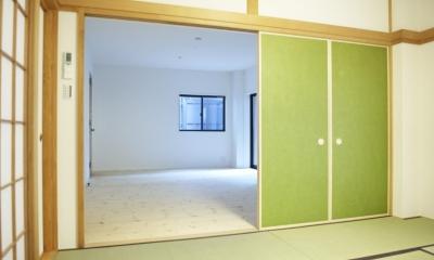 N邸・こだわりのシンプルナチュラル空間 (1F・和室続きの事務所)