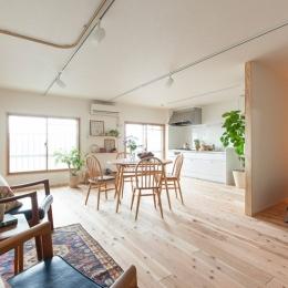 老後の暮らしを見据え、ゆとりと動きやすさを兼ね備えたシンプル&フラットなひろびろワンルームの部屋 LDK