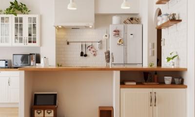 SU邸・明るくさわやかに ここから始まる2人の暮らし (キッチン)