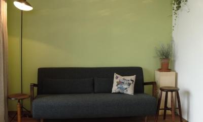 S邸・こだわりをたっぷり詰め込んだ、無垢材の温もり溢れる空間 (リビング)