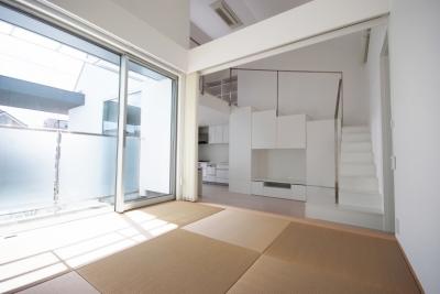 千歳台の二世帯住宅 (2階小上がり客間)
