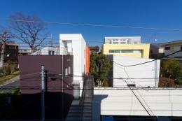 宮坂の二世帯住宅 (集落全景)