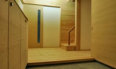 八百津の木組み (玄関ホール)