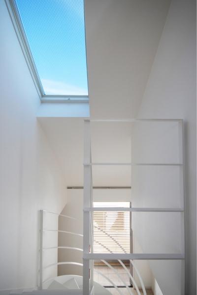 階段ホール (目黒の二世帯住宅)