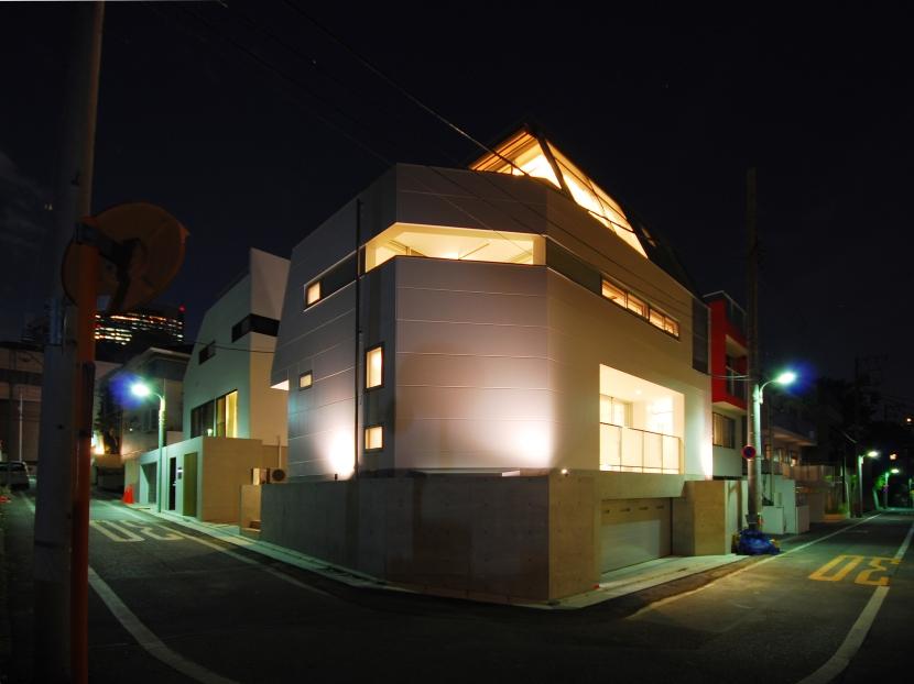 目黒の二世帯住宅 (夜景)