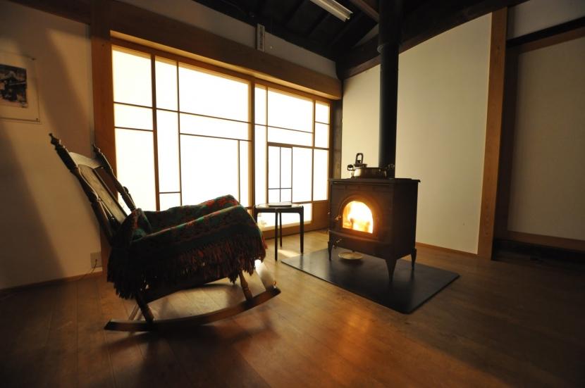 建築士の家の部屋 薪ストーブ