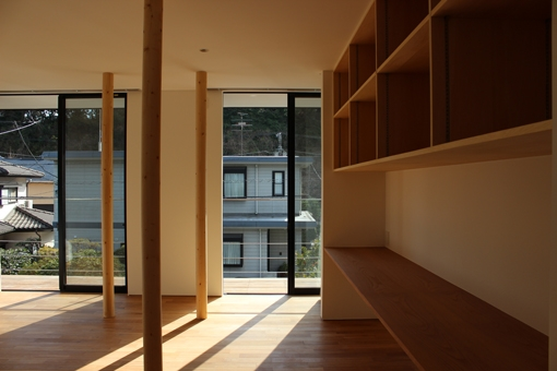 金沢文庫の家の部屋 二階リビング