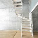 風の抜けるオリジナル階段