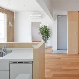 桂川の住宅 (木の質感を残したシンプルなLDK)