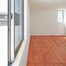 合板床を用いたベッドルーム