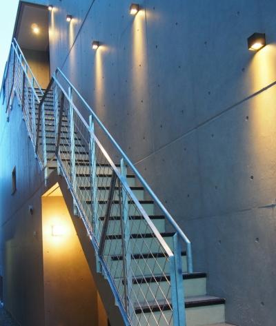 石神井台レジデンス (アプローチ階段)