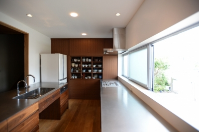 F邸 キッチン改修 | HOUSE F Renovation I (カウンター と 開口部)