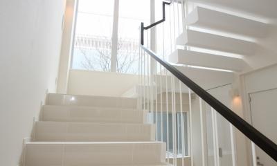 世田谷の家 (階段の吹抜け)