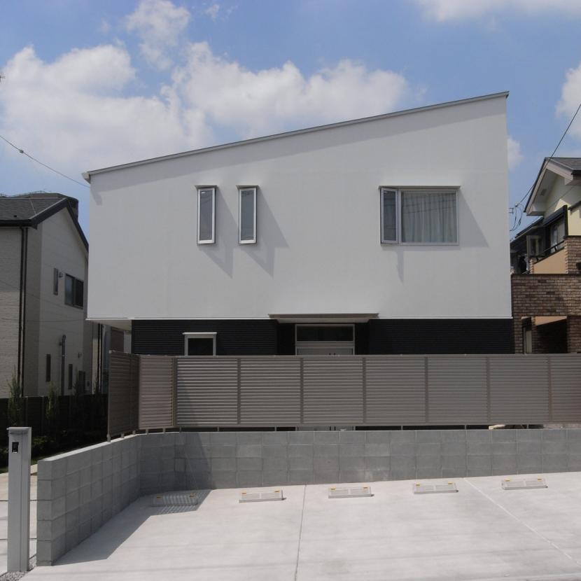 相模原の家の部屋 片流れ屋根