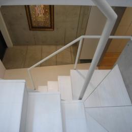 三田H邸 (玄関と階段)