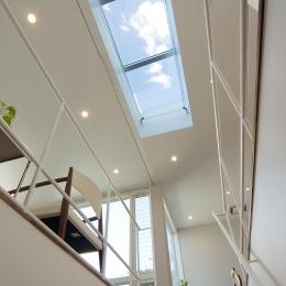 TFハウス (階段より空を見る)