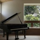 緑陰とピアノの家
