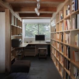 地下室のような書斎