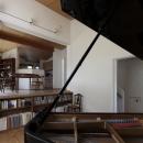 ピアノ室からキッチンを見る