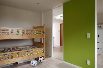 子供部屋 (眺めの良いルーフテラスの家)
